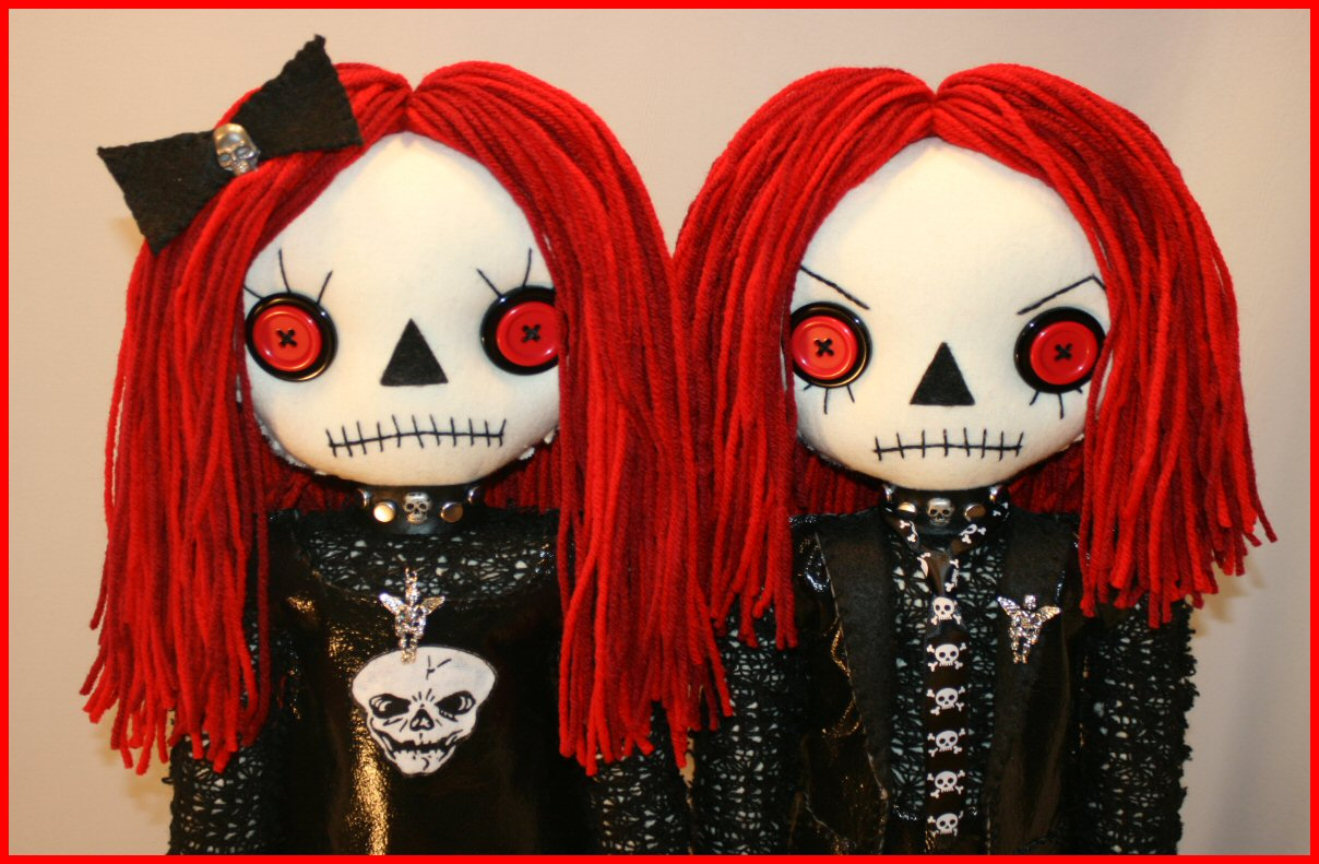 goth raggedy ann and andy toys dolls and playthings